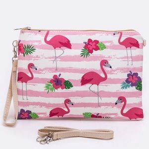 Handbags - Flamingo Print Convertible Swing Bag